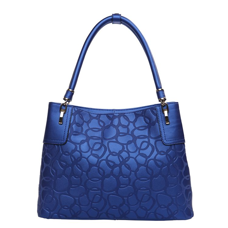 Women's Leather Bags  Handbags  3159L Navy Blue Leather Shoulder Bag ...