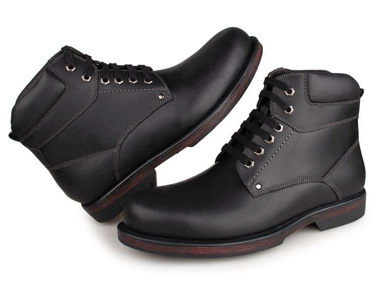 1003A8 New Arrival Comfortable Genuine Cow Leather America 8 Size Men Army Boots