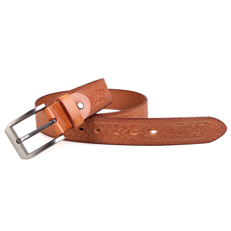 b001b 2 wholesale brown fashionable vegetable leather belt