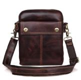 1002X Brown Genuine Cowhide Leather Messenger Bag for Men