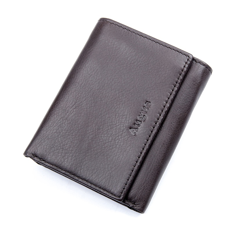R-8105R-1 Soft Cow Leather RFID Wallet with LOGO Card Holder