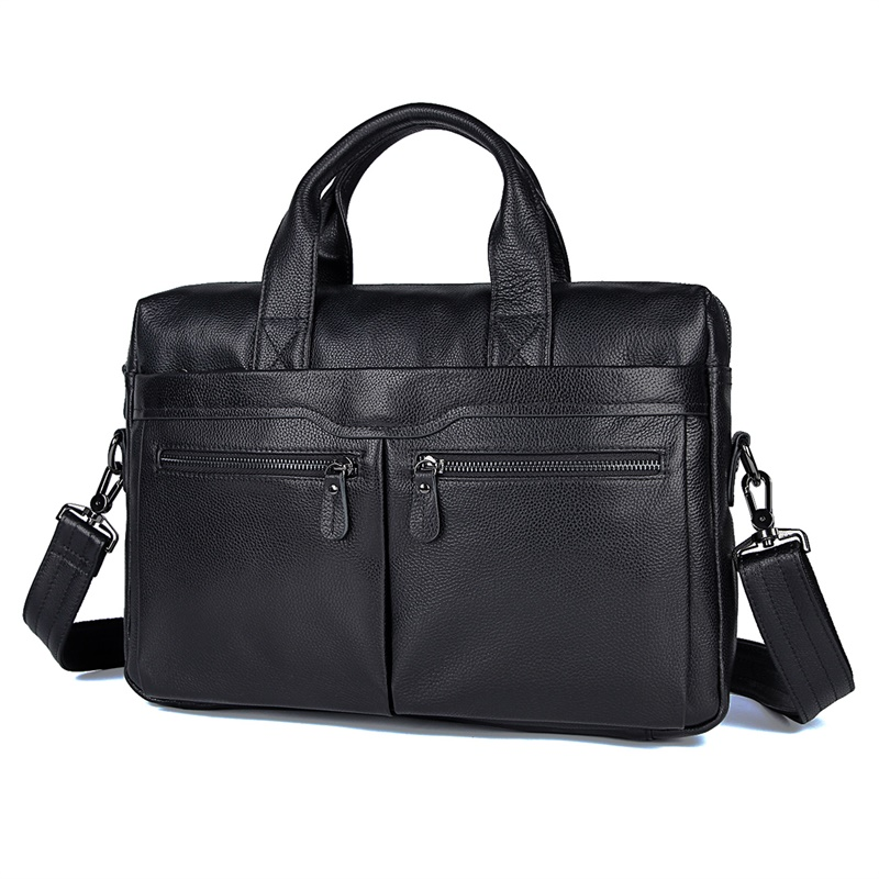 7122A-2 High Quality Cowhide Leather Men laptop Bag